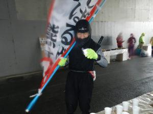 『現代版 忍者希望者 大歓迎 フルマラソン完走めざせ』